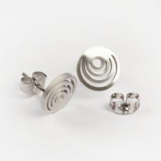 Kolczyki sztyfty ze stali chirurgicznej kółka srebrny 9,4mm