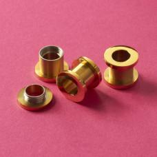 Tuleja rozkręcana ze stali chirurgicznej do drobnych koralików złoty 13x11mm