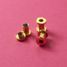 Tuleja rozkręcana ze stali chirurgicznej do drobnych koralików złoty 13,8x7mm