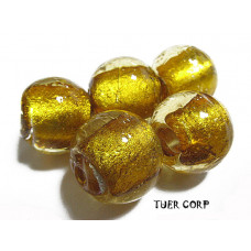 Szkło weneckie kulka złota 14mm
