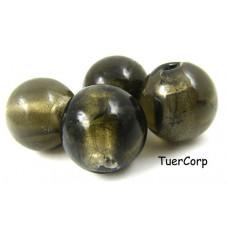 Szkło weneckie kulka czarny diament 18mm