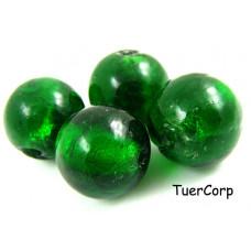 Szkło weneckie kulka zielona 18mm