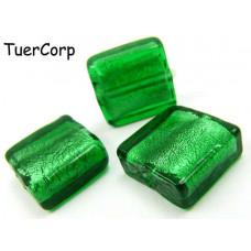 Szkło weneckie kwadrat zielony 15mm