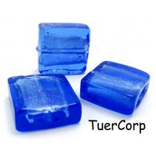 Szkło weneckie kwadrat niebieski 15mm