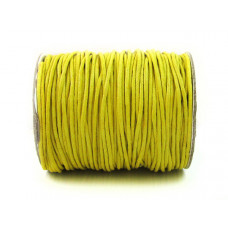 Sznurek bawełniany woskowany żółty 2mm