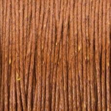Sznurek bawełniany woskowany jasny brąz 1mm