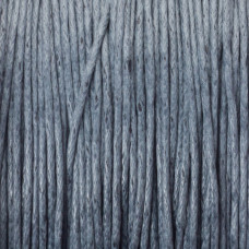 Sznurek bawełniany woskowany szary 1mm