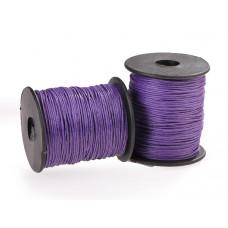 Sznurek bawełniany woskowany fioletowy 1mm