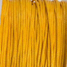 Sznurek bawełniany woskowany żółty 1mm