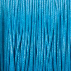 Sznurek bawełniany woskowany niebieski 1mm