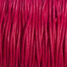 Sznurek bawełniany woskowany fuksja 2mm