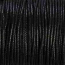 Sznurek bawełniany woskowany czarny 2mm
