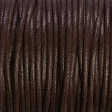 Sznurek bawełniany woskowany brązowy 2mm