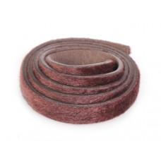 Pasek do bransoletek włochaty czekoladowy 1m