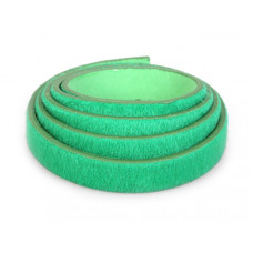 Pasek do bransoletek włochaty zielony 1m