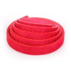 Pasek do bransoletek włochaty czerwony 1m