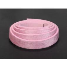 Pasek do bransoletek włochaty różowy 1m