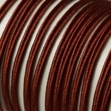 Sznurek pleciony do sutaszu 3 mm brązowy