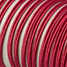 Sznurek pleciony do sutaszu 3 mm purpurowy