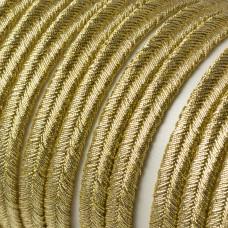 Sznurek do sutaszu 5mm ciemne złoto
