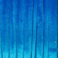 Sznurek welurowy niebieski 1.5x6mm