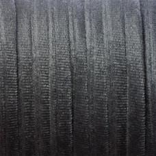 Sznurek welurowy grafitowy 1.5x6mm