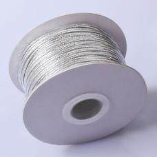Sznurek do sutaszu chiński metallic silver 2.5mm