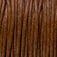 Sznurek bawełniany woskowany jasno brązowy 1mm