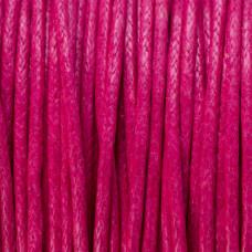 Sznurek bawełniany woskowany fuksja 1mm