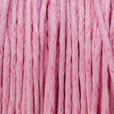 Sznurek bawełniany woskowany blady róż 1mm