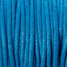 Sznurek bawełniany woskowany niebieski 1,5mm