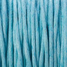 Sznurek bawełniany woskowany błękitny 1,5mm