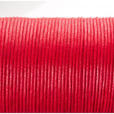 Sznurek bawełniany woskowany arbuzowy 1,5mm