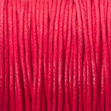 Sznurek bawełniany woskowany 1.5mm czerwony