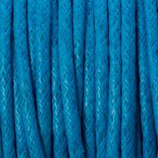 Sznurek bawełniany woskowany niebieski 2mm