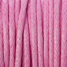 Sznurek bawełniany woskowany różowy  2mm