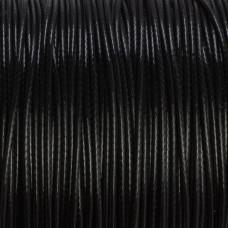 Sznurek powlekany czarny 1mm