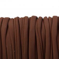 Sznurek lycra brązowy 5mm