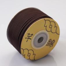 Sznurek pleciony 2.2mm brązowy