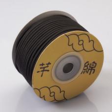 Sznurek pleciony 2.2mm czarny