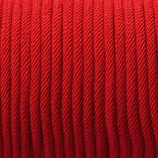 Sznurek pleciony 4mm intensywna czerwień
