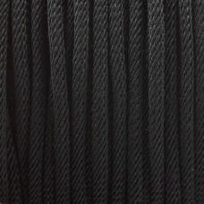 Sznurek skręcany czarny 3mm