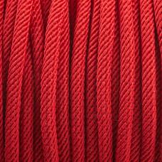 Sznurek skręcany czerwony 3mm