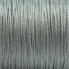 Sznurek pleciony srebrny 1mm