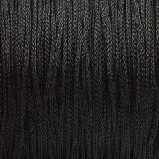 Sznurek pleciony czarny 1mm