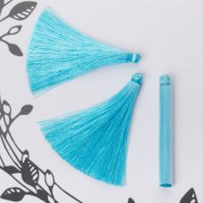 Chwost z wiskozy błękitny 6,5cm