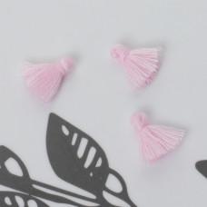 Mini chwost bawełniany pastelowo różowy 10-15mm