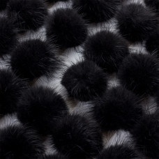 Pompon czarny 4cm