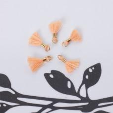 Mini chwosty w złotym okuciu brzoskwiniowe 10mm