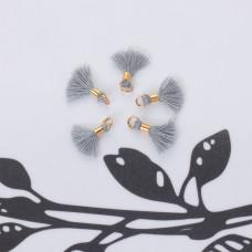 Mini chwosty w złotym okuciu szary 10mm